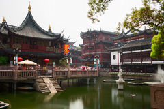 The City God Temple or Chenghuang Miao area - district of commerce in the city. Shanghai Royalty Free Stock Photos