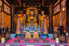 City god temple Chenghuang Miao shanghai china Royalty Free Stock Images