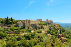The city of Gordes in the Vaucluse, France. royalty free stock photo