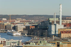 City of Gothenburg by the river Royalty Free Stock Image