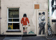 City graffiti. The wall with city graffiti Brighton United Kingdom royalty free stock photos
