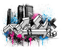 City graffiti background Royalty Free Stock Photos