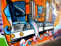 City graffiti. Royalty Free Stock Image