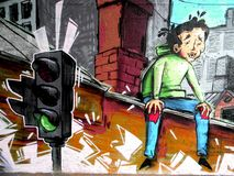 City graffiti. Royalty Free Stock Photography
