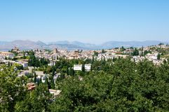 City of Granada. View of the city of Granada, Andalusia,Spain Royalty Free Stock Photos