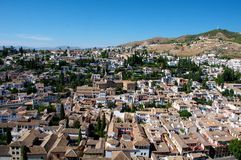 City of Granada. View of the city of Granada, Andalusia,Spain Royalty Free Stock Images