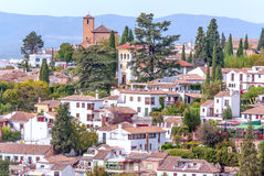 City of Granada. In Spain with mountains in the background Stock Photography