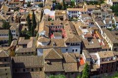 City of Granada in Spain Stock Photo