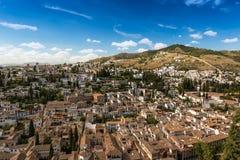 City of Granada at a summer day, Spain Stock Photos