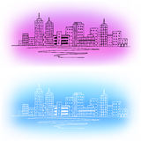 City graphic art color abstract background illustration Stock Photography