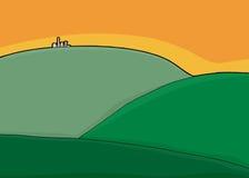 City on Green Hills stock illustration