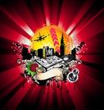 City Grunge Style Disco Background Royalty Free Stock Photos