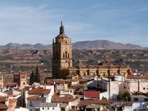 City of Guadix. Small city of Guadix in Andalucia, Spain Royalty Free Stock Photo