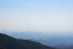 The city is Guangzhou. From the China Guangzhou baiyun hill Stock Image