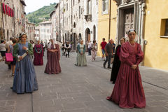 City of gubbio umbria italy. Images of palio della balestra(challenge of crossbow) held in the city of gubbio(umbria)the first sunday of may,it is an old stock image