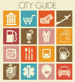 City guide icons Royalty Free Stock Photo