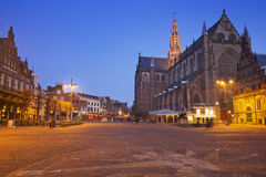 City of Haarlem, The Netherlands at night Stock Image