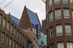 City Hague . Facades  and roofs of houses in city center. Nether Stock Photography