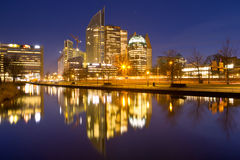 City of The Hague, The Netherlands at night Stock Photography
