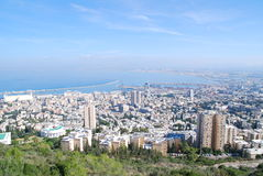 The city of Haifa. A view of Haifa gulf, Israel. Picture taken from: Lui Blv. at November 21 2009 Stock Photos
