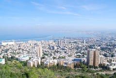 The city of Haifa. A view of Haifa gulf, Israel Stock Photos
