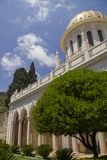 City of Haifa in Israel from the Bahai Garden ,View to Sea and h Royalty Free Stock Images