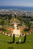 City of Haifa in Israel from the Bahai Garden ,View to Sea and h. Abor Stock Photography