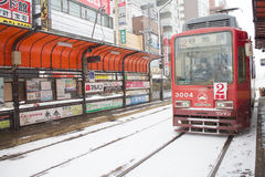 The city of Hakodate. The bus in the city of Hakodate Stock Photography