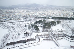 The city of Hakodate, panorama. The city of Hakodate in the winter Stock Image