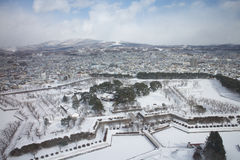 The city of Hakodate, panorama. The city of Hakodate in the winter Royalty Free Stock Photos