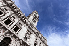 City Hall. An unusual view from the Oporto city hall facade dated 1916 - Portugal Royalty Free Stock Images