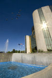 City Hall. Livonia, Michigan, City Hall featuring fountain and pool royalty free stock photo