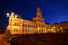 City Hall. Arad City Hall by night, Romania Stock Photo