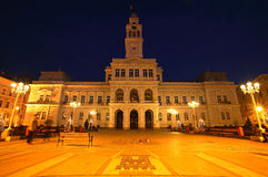 City Hall. Arad City Hall by night, Romania Royalty Free Stock Image