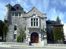 City Hall. Building in Nelson, British Columbia Stock Photography