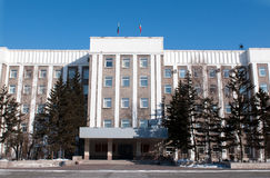 City hall in Abakan, Stock Photography