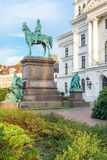 City Hall Altona with William I, German emperor equestrian statue Royalty Free Stock Photography