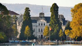 City hall of Annecy in France. stock video