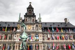 The city hall of Antwerp, Belgium Stock Photo