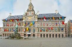 The City Hall of Antwerp Stock Photos