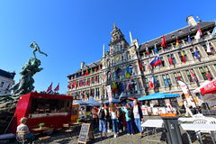 City Hall of Antwerp stands at the Great Market Square Royalty Free Stock Photos