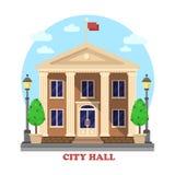 City hall architecture facade of building exterior Royalty Free Stock Photos