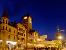 City Hall Asiago Italy by night. Asiago, Italy - August 2018: City Hall by night Royalty Free Stock Image