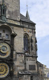 City Hall with Astronomy Clock from Prague in Czech Republic royalty free stock photo