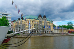 City hall and the Aura river, in Turku Royalty Free Stock Photography