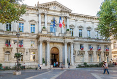 City Hall in Avignon. Stock Image