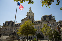 City Hall of Baltimore Maryland Royalty Free Stock Photos