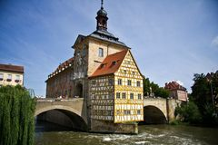 City Hall of Bamberg, Germany. Building of City Hall of Bamberg, Germany Stock Photography