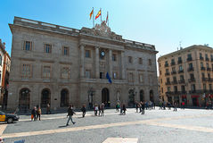 City Hall in Barcelona. Photo of Placa de Sant Jaume and City Hall of Barcelona.Spain.(31.10.2010 Royalty Free Stock Photography