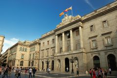 City Hall in Barcelona Royalty Free Stock Photography
